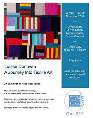 Louise Donovan - A Journey Into Textile Art.